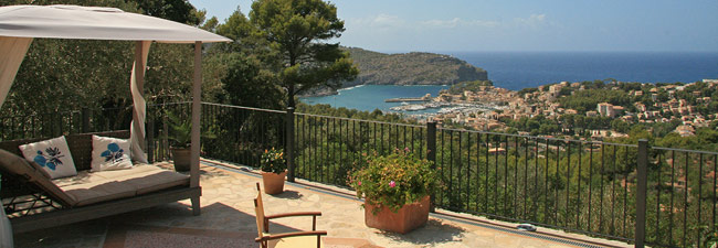 The wonderful Casita Vista Bahía, above of Port de Sóller